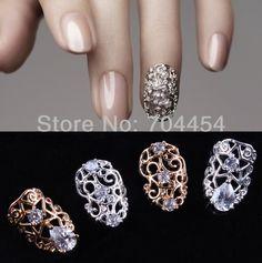 5pcs optional 3D Shiny Nail Alloy Rhinestone Metal nail Art Tip zircon Design Glitters Decoration US $5.00