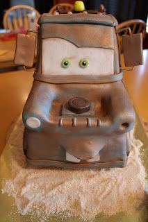 Creative Cake Confections: An adventure in Cake!: Tow Mater 3D Cake