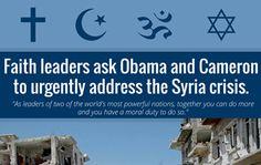 28 faith-based leaders call on U.S. and U.K. leaders to consider Syria