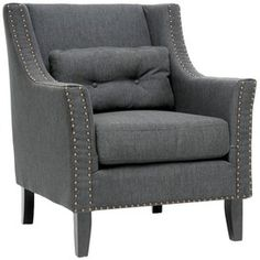 Albany Lounge Chair in Gray