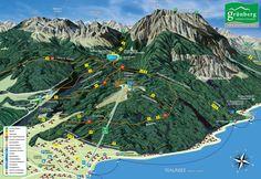 Großes Bild anzeigen Mount Kilimanjaro, Mountain Hiking, Map Art, Hiking Trails, Geography, City Photo, Cool Art, Maps, Road Trip Destinations