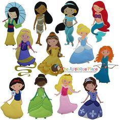 Embroideryfreecandy: embroidery free princess disney appliques