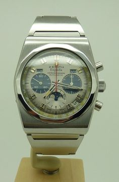 Vintage Zenith El Primero Espada Full Calendar Chronograph Moon Watch Ref A7817