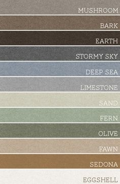 Take any set of 3 of these colors and each room would be amazing. A palette for the whole house. Just a suggestion.