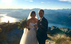 Queenstown Celebrant - Queenstown heli-wedding at Cecil Peak