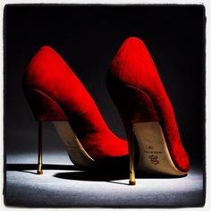 .Red suede shoes!