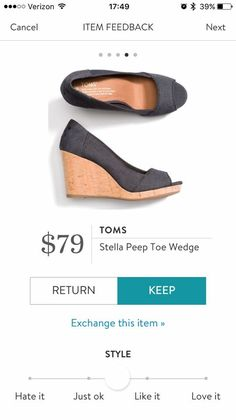 Great option for work peep toe shoes!