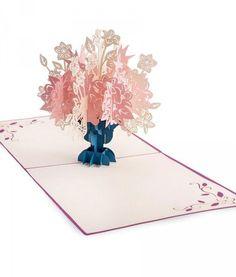 Purple Floral Bouquet Pop Up Sympathy Card