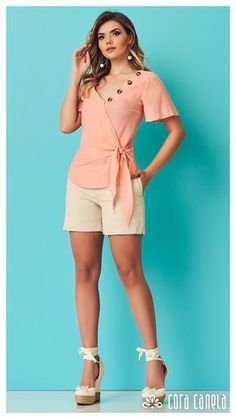 LOOK BOOK 11 – Cora Canela Short Outfits, Casual Outfits, Casual Dresses, Girl Fashion, Fashion Dresses, Womens Fashion, Fashion Design, Blouse Styles, Blouse Designs