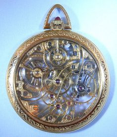 Bogoff Antique Pocket Watch~ A rare Skeletonized Patek Philippe 18k gold, ca. 1951