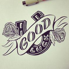 amazing lettering good luck typo