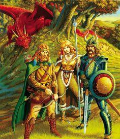 Artist: Larry Elmore  -  Dragon Lance  -  Dragons of Autumn Twilight  -  http://fantasygallery.net/elmore/  -  http://www.larryelmore.com/store/  -  https://www.pinterest.com/fernandes3461/larry-elmore/  -  #LarryElmore