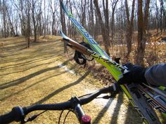 Time to put the skis away and start biking! Cross Country Skiing, Biking, Garden Tools, Bicycling, Yard Tools, Motorcycles, Cycling