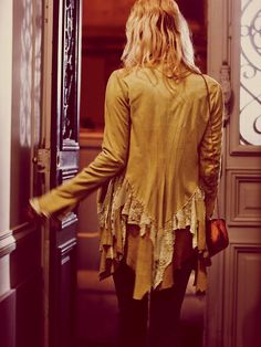 Free People Lacey Inset Suede Jacket at Free People Clothing Boutique