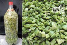 Fasulye Turşusu:2,5 litrelik pet şişe 2 kilo fasulye 1 yemek kaşığı kalın tuz 1 baş sarımsak 3 tane acı biber 1 çay bardağı sirke haşlamak için kaynar su