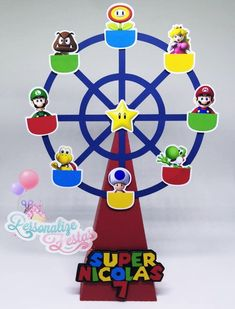 Super Mario Bros, Super Mario Birthday, Mario Birthday Party, Super Mario Party, Super Mario Brothers, Bolo Do Mario, Bolo Super Mario, Mario Bros., Mario Kart