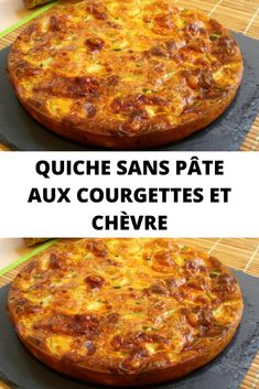 Zucchini and goat cheese quiche without dough - Recettes Astuces - Quiche Recipes, Pizza Recipes, Snack Recipes, Healthy Recipes, Healthy Bars, Eating Healthy, Healthy Cooking, Easy Recipes, Healthy Food