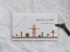 中目黒の雑貨屋さん「Migratory (ミグラトリー)」のショップカード - KAWACOLLE #card #design #japanese