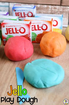 Do you know what is better than eating Jello? Making Jello Play Dough! This play dough recipe is an easy sensory activity that can be used as a hands-on tool to help your kids with letter recognition, fine motor development, pre-writing skills, and more. Click on the picture to learn how to make this sensory play recipe and for more ways to use this play dough! #playdoughrecipe #sensoryplay #sensoryactivity #playdough #jelloplaydough