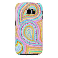 Red Yellow Pink Boho Paisley Pattern Samsung Galaxy S6 Cases