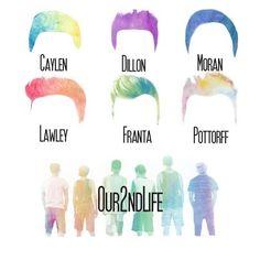 JC, Ricky, Trevor, Kian, Connor, and Sam
