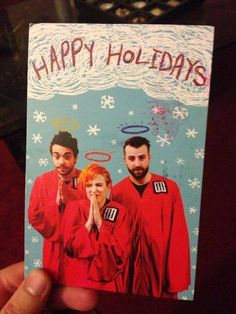 Paramore 'Happy Holidays' Greetings Card. <3