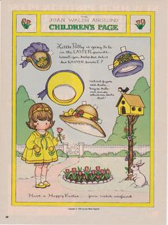 J.W.A. Children's Page- Good Housekeeping- Easter 1981