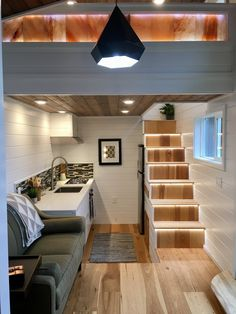 Tiny Home of Zen by Tiny Heirloom with Beautiful Kitchen! Tiny House Movement /… Tiny Home of Zen by Tiny Heirloom with Beautiful Kitchen! Tiny House Movement // Tiny Living // Tiny House Stairs // Tiny Home Kitchen // Continue Reading → Tiny House Stairs, Tiny House Loft, Small Tiny House, Modern Tiny House, Tiny House Living, Tiny House Plans, Tiny House On Wheels, Tiny House Design, Zen House