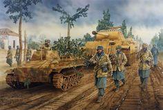 German Reinforcements Heading for Anzio.