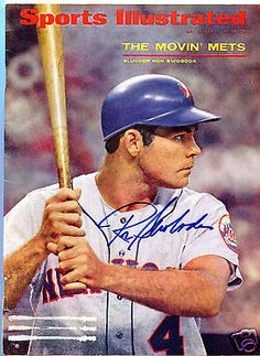 Ny Mets Ron Swoboda Autograph Sports Illustrated Magazine 5/6/68 New York Mets