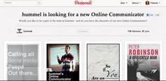 Smart måde @hummel bruger Pinterest til at finde en ny Online Communicator.   Som jobsøgende kan du gøre det samme: Lav et board og fortæl hvem du er! #Jobtip