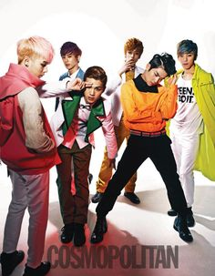 TEEN TOP releases more photos from their colorful 'Cosmopolitan' photoshoot