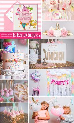 Invitaciones Infantiles, Invitaciones para fiestas Infantiles, cumpleanos de unicornios, Fiesta de unicornios