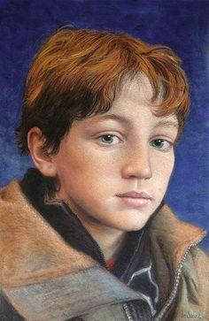 """Portrait pastel sec - portrait soft pastel -Jean-Francois Le Saint - """"Le festivalier"""""""