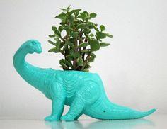 DIY dino planter