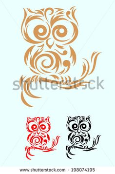 Owl bird. A bird ornate art vector decoration....vector file.....