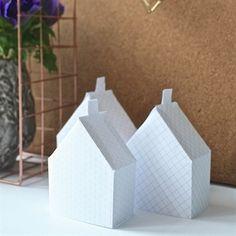 papieren huisjes vouwen