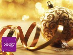 Christmas Spa bauble Christmas Bulbs, Perfume Bottles, Bangles, Wedding Rings, Engagement Rings, Holiday Decor, Jewelry, Castle, Spa