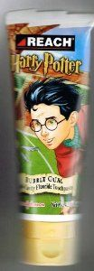 Harry Potter Bubble Gum Flavored Toothpaste by Reach by Harry Potter, Warner Brothers. $11.95. 4.2 ounce tube. Harry Potter official toothpaste by Reach.. Made by Johnson & Johnson in 2001 - 2002 only. Discontinued item.. Anti-cavity fluoride toothpaste.. Bubble gum flavored.. Been enjoying sweets at Honeydukes Sweet Shop? Or enjoying Treacle Tart at the Hogwarts feast? Time to brush your teeth! Very hard to find, out of production Harry Potter bubble gum flavored fluoride ...
