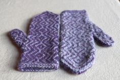 Radio Frequency Mittens Christmas FO « Italian Dish Knits