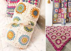 Sunburst Granny Squares Crochet Free Pattern - Pattern Center Crochet Granny Square Beginner, Crochet Square Blanket, Crochet Square Patterns, Crochet Squares, Crochet Patterns Amigurumi, Baby Blanket Crochet, Granny Squares, Baby Afghans, Baby Blankets