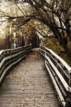 Walking Bridge to Harmar Village, Marietta Ohio.