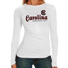 South Carolina Gamecocks Ladies Victory Parade Slim Fit Long Sleeve T-Shirt - White
