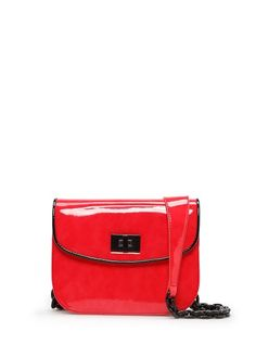 MANGO - Patent shoulder bag Bolsos Para Hombre ca028961e268