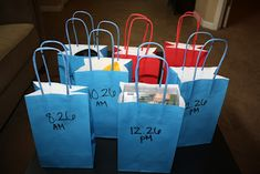 Anniversary Present: Have Gift Bags Ready To Be Opened By Your Husband Every 2 Hours Throughout The Day (Some Gifts Can Be Big, Some Small) - First Gift To Be Opened At The Time That Is Same Number As Your Anniversary Date