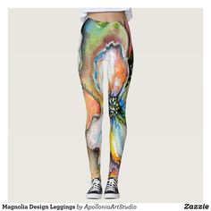 231d1e7ccbd2e3 Magnolia Design Leggings : Beautiful #Yoga Pants - #Exercise Leggings and #Running  Tights