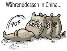 Währenddessen in China… ein Sack Reis Meanwhile in China … a bag of rice In China, Funny Memes, Hilarious, Funny Character, Character Design, Susa, Funny Photos, The Funny, Sayings