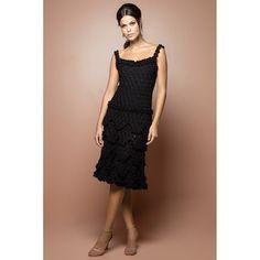 US$ 2,990.00 - Black Bellini Crochet Dress - Vanessa Montoro USA - vanessamontorolojausa
