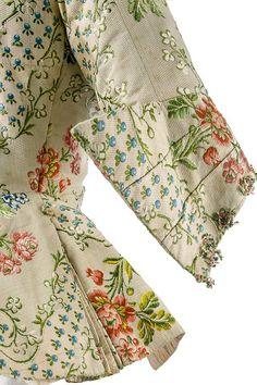 """Schoßjacke """"Casaquin"""", Frankreich, um 1755. (Detail) Hip-length jacket """"Casaquin"""", France, circa 1755. (detail) Inv. Nr. 2003,KR 26 Foto © Staatliche Museen zu Berlin, KGM, Stephan Klonk"""