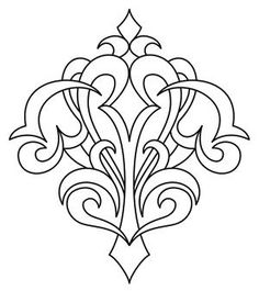 Gothic Corner Flourish | Urban Threads: Unique and Awesome Embroidery Designs: